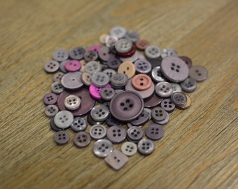 100+ Mixed Purple Buttons