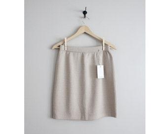 knit skirt / St. John knit / beige skirt