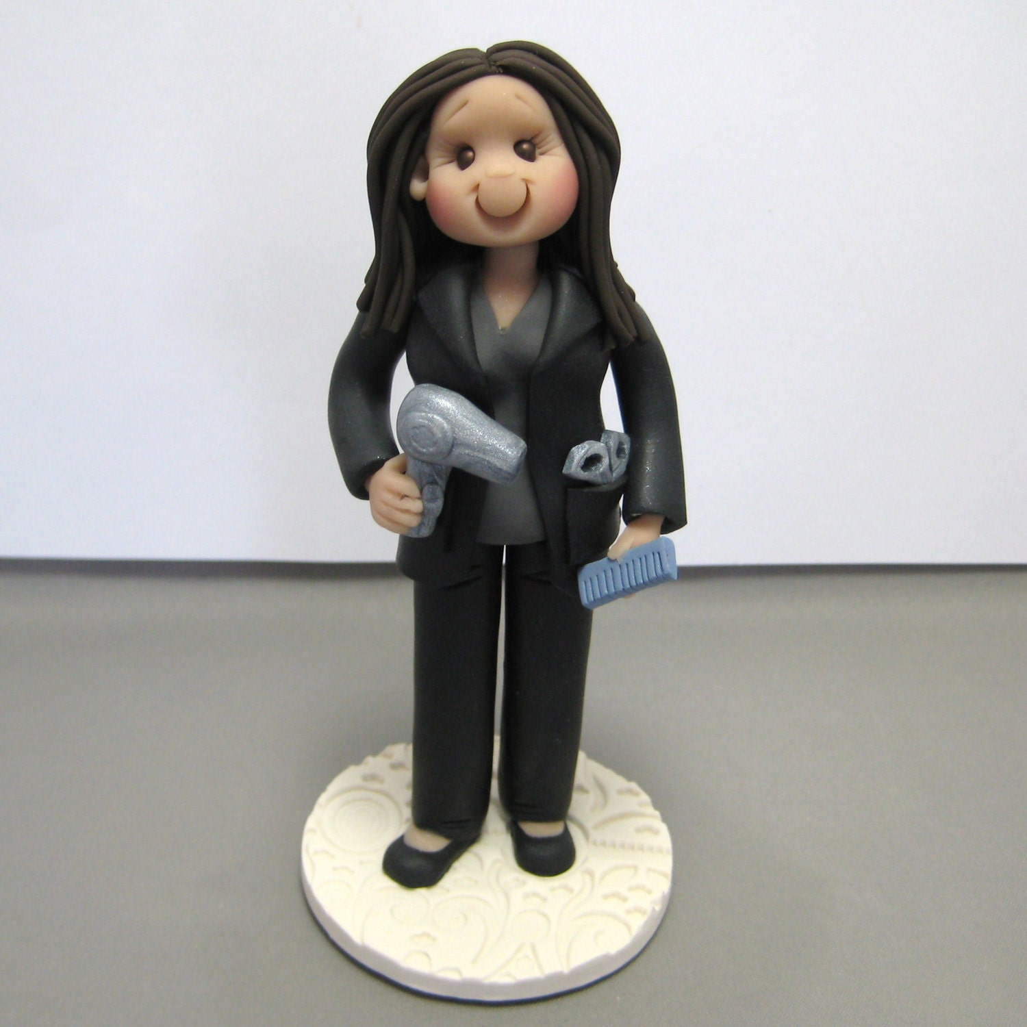 Scissors And Hairdryer Cake Topper