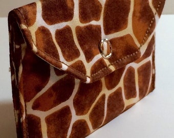 Card Pocket - Giraffe Animal Print - Business Cards - Holder - Wallet - Gift - Holiday - Christmas