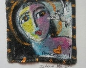 Mary Magdalene and Dove original painting