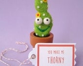 Prickly Pear Cactus with Your Choice of Message