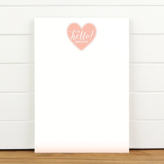 Oh Hello Beautiful Pink - 50 Sheet Everyday Notepad To Do List Motivational