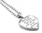 Mother of the Groom Pendant, Wedding Jewelry, Bridal Jewelry, Grooms Mothers Necklace, Man of my Dreams,
