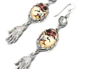 Vintage fortune teller bracelet earings