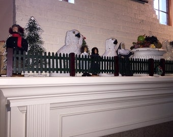 Antique Wood Picket Fence