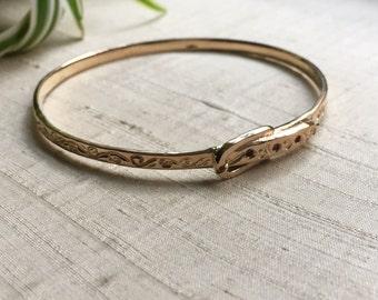 Ruby Buckle Bracelet in  Bronze