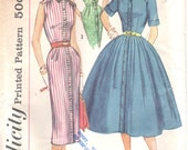1950s Simplicity Misses One-Piece Dress Sewing Pattern 1946