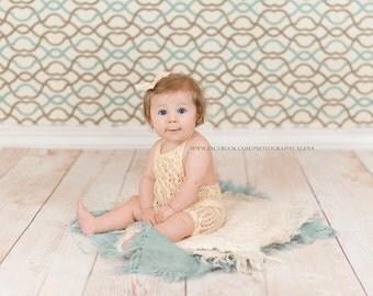 Romper Bonnet  Hat Sitter Photo Props - Newborn to 12 mths Choose Color Size