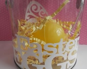 Easter Goodie Clear Pail Treat Holder