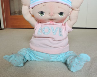 Sale** 50% off** Bridget a One of a Kind Soft Sculpture Baby Doll by BeBe Babies