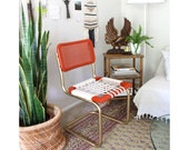 Refurbished Furniture, Cesca Chair, Mid Century Chair, Marcel Breuer, Rope Chair, Accent Chair, Metal Frame, Rattan Cantilever Chair, Boho