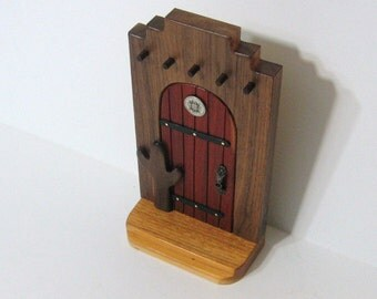 Southwest Fairy Door Made from Four Woods