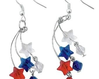 Patriotic Firework Earrings
