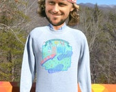 vintage 90s sweatshirt WALK multiple sclerosis charity raglan crewneck Medium Large gray