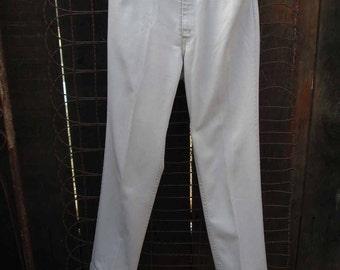 "60s vintage Levis Sta Prest Big E Slim Leg StaPrest Levi slacks Khaki Pegged Pants 1960s vintage 34 29 1/2"""