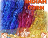 Indian Corn Spinning Batt + BFL Locks -- November Spinning Box -- Includes UPGRADED Priority Shipping in US