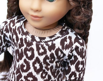 Fits like American Girl Doll Clothes - Leopard Spotted Tee