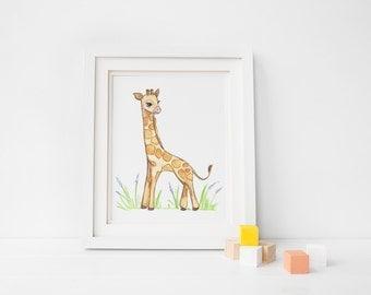 Baby Giraffe 8 x 10 print
