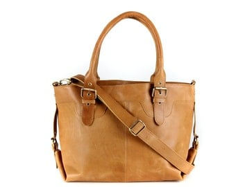 Tan Leather Tote, purse