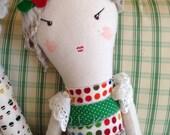 PARISIAN Rag DOLL -- Handmade Doll -- OOAK Doll -- Soft Doll -- Unique Gift -- Valentine's Gift -- Valentine Toy -- Soft Toy