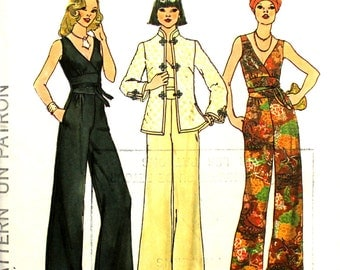 Uncut Fitted Jumpsuit Bust 38 and Jacket Simplicity 7230
