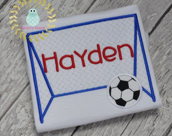 Soccer shirts - Soccer applique shirts - Soccer shirt - Soccer monogrammed t-shirt - 12 mo 18 mo 2t 3t 4t 5 6 8 Personalized Embroidered