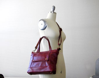 Archive Micro in Crimson Berry, Crossbody Tote, Tote Mini, Crossbody Satchel, Small Crossbody, Mini Bag, Micro Tote, Satchel, Made to Order