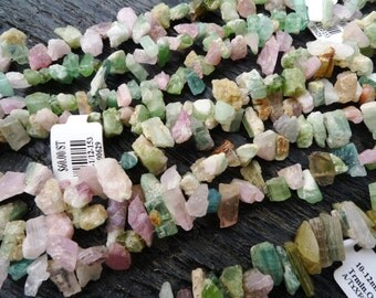 raw tourmaline beads, multi tourmaline beads, rough tourmaline beads, chunky tourmaline beads