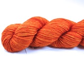 Tangerine Speedo--hand dyed worsted weight, merino superwash (218yds/100gm)