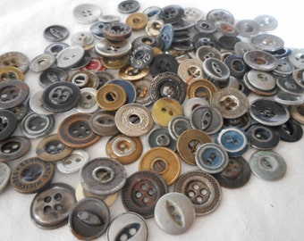 Lot of VINTAGE Workpants Metal BUTTONS