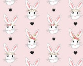 Bunny Baby Crib Sheet, fitted crib sheet, bunny crib sheet, crib sheet, big bunny bed sheet
