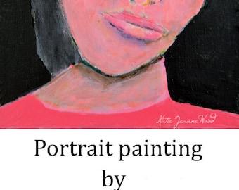 Acrylic Woman Portrait Painting. Original Art. Woman Wall Art. Original Home Wall Decor.
