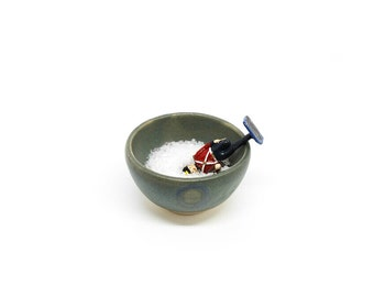 Tiny bowl pinch serving salt cellar kitchen matte ceramic pottery stoneware