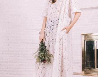 CUSTOM white collar dress / Made to order