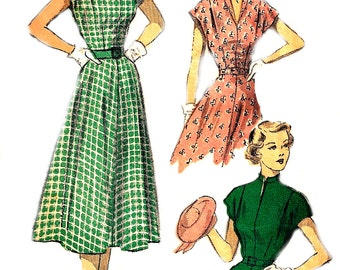1950s Dress Pattern Advance Vintage Sewing Unprinted Teen's Women's Misses Size 14 Bust 31. 5 Inches