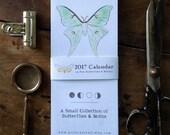 2017 Calendar - A Few Butterflies and Moths - Digital - Printable PDF