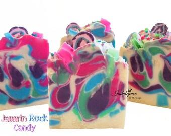 Soap-Jammin Rock Candy Artisan Vegan Soap/Handmade/Cold Process Soap