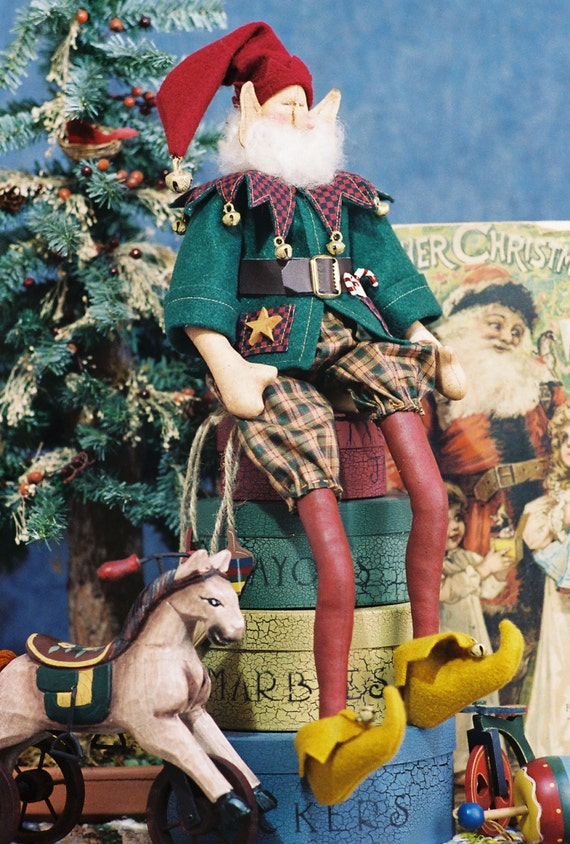 OOAK Original Prototype Collectible Christmas Elf Doll