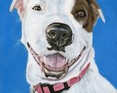 Dog Painting, Custom Pet Portrait from Photo, custom size 8 x 10