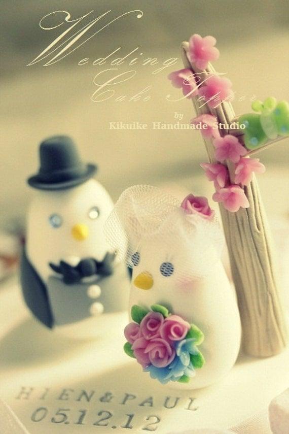 love birds  wedding cake topper (K338)