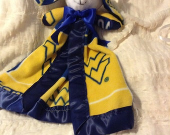 WVU Baby Bunny Lovey Blanket and BFF forever!