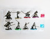 Star Wars Monopoly Game Pieces Metal Pewter Tokens Saga Edition Parker Bros. 8 pieces w Dice Luke Skywalker, Darth Maul