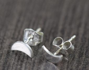 Moon stud earrings Moon phase earrings crescent moon earrings moon jewelry sterling silver boho earrings gifts for her