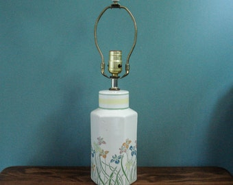 Fabulous 1980s ceramic accent lamp - with harp