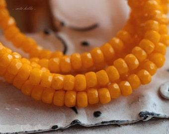 MEYER LEMON BITS .. 50 Czech Fire Polished Rondelle Glass Beads 2x3mm (5165-st)
