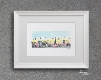 Skyline Series - Color Art Print (5 x 7)