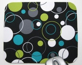Buy 2 FREE SHIPPING Special!!   Mouse Pad, Computer Mouse Pad, Fabric Mousepad         Hoopla Dot