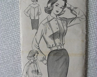 "1960s Blouse - 36"" Bust - Bestway E 3606 - Vintage Retro Sewing Pattern"
