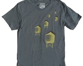Water Towers Tshirt in Grey for Men